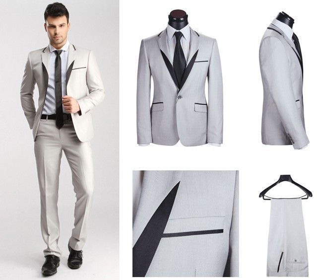 Snow white wedding suits for men is always exclusive and elegant ...