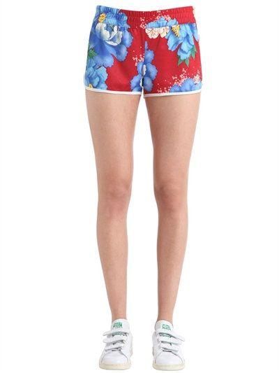 Redblue Adidas Farm By Originals Shorts Printed Nylon Flower z446Uwxqn