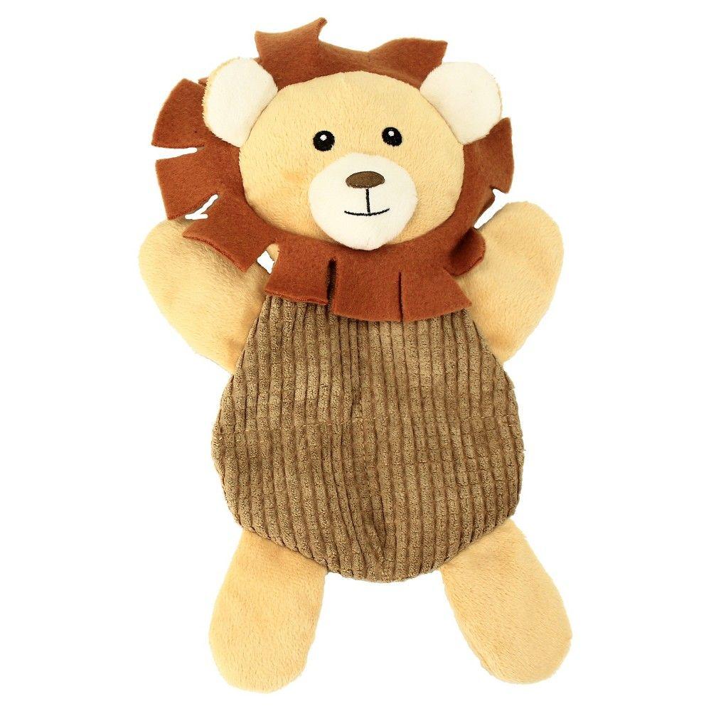 Safari Lion Squeak Dog Toy Boots Barkley Brown Dog Toys