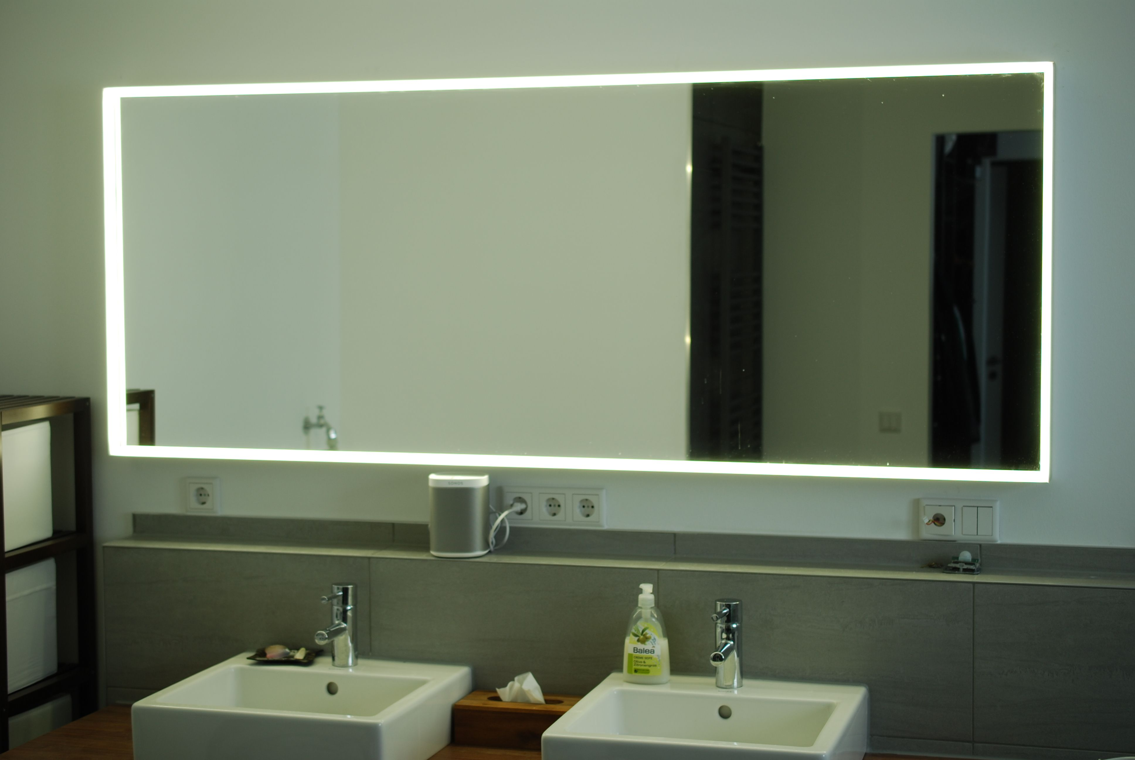 Ikea Hack Bad Spiegel Mit Led Beleuchtung Bw Baublog Led Spiegel Badezimmer Design Badgestaltung