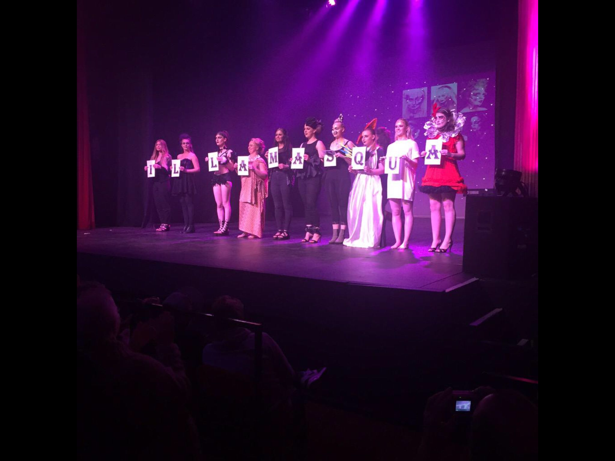 End of year show 2015 hair and media make up Rotherham
