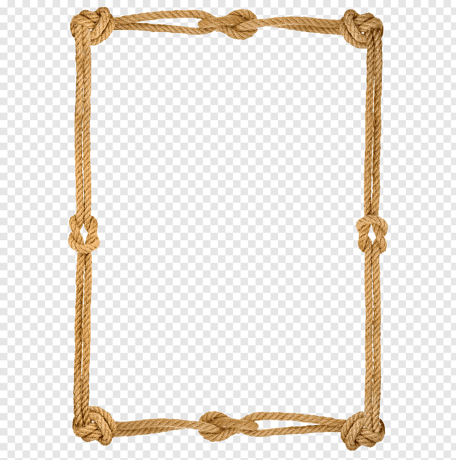 Brown Rope Rope Knot Hemp Knitting Woven Fabric Rope Knot Border Free Png Floral Border Design Beige Mirrors Ornament Frame