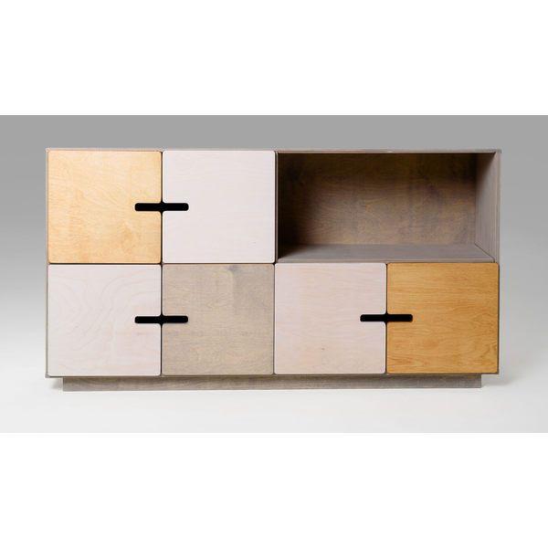 Sideboard-Küchenkommode PIX aus Holz für Geschirr, Tischdecken - kommode für küche