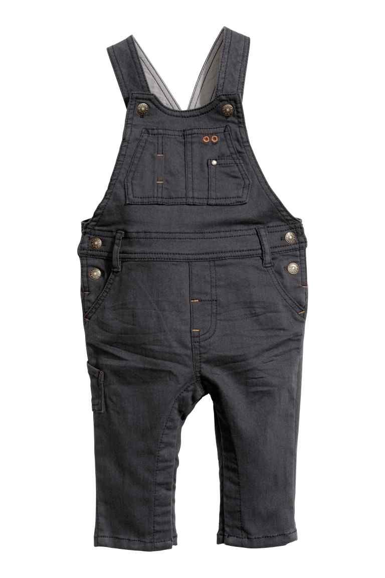 Corduroy dungarees - Dark grey - Kids | H&M 1 | Overalls