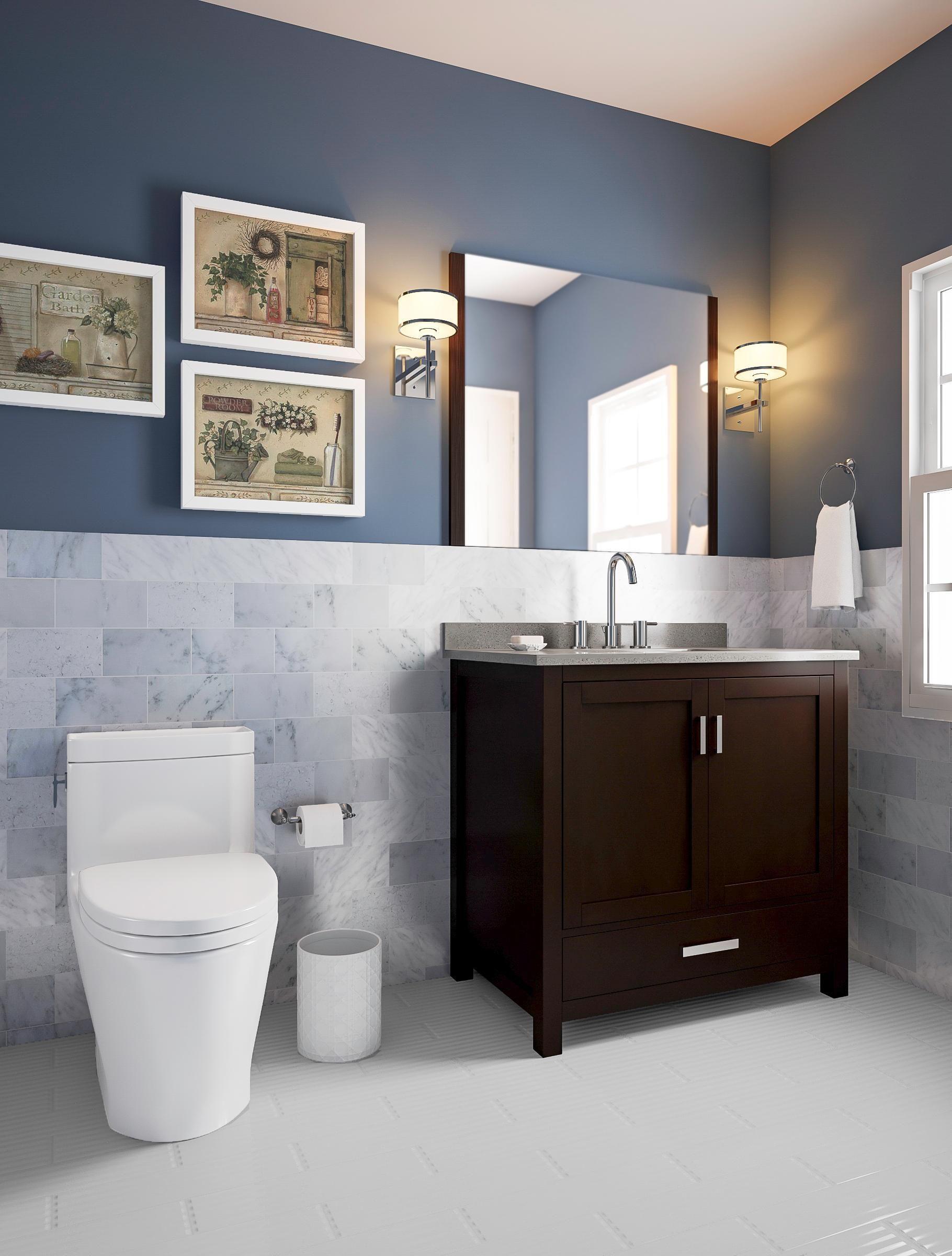 Bathroom Remodel Ideas 558 Blue Bathroom Walls Navy Blue Bathroom Walls Bathrooms Remodel
