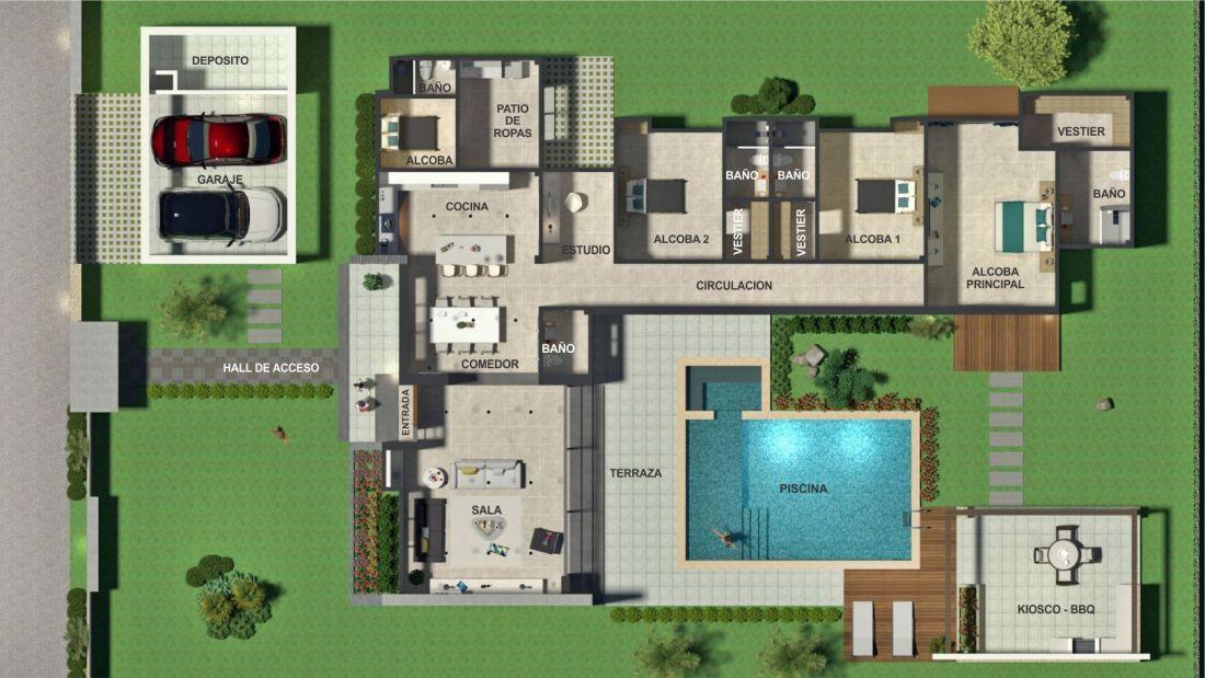 Planos de casas campestres