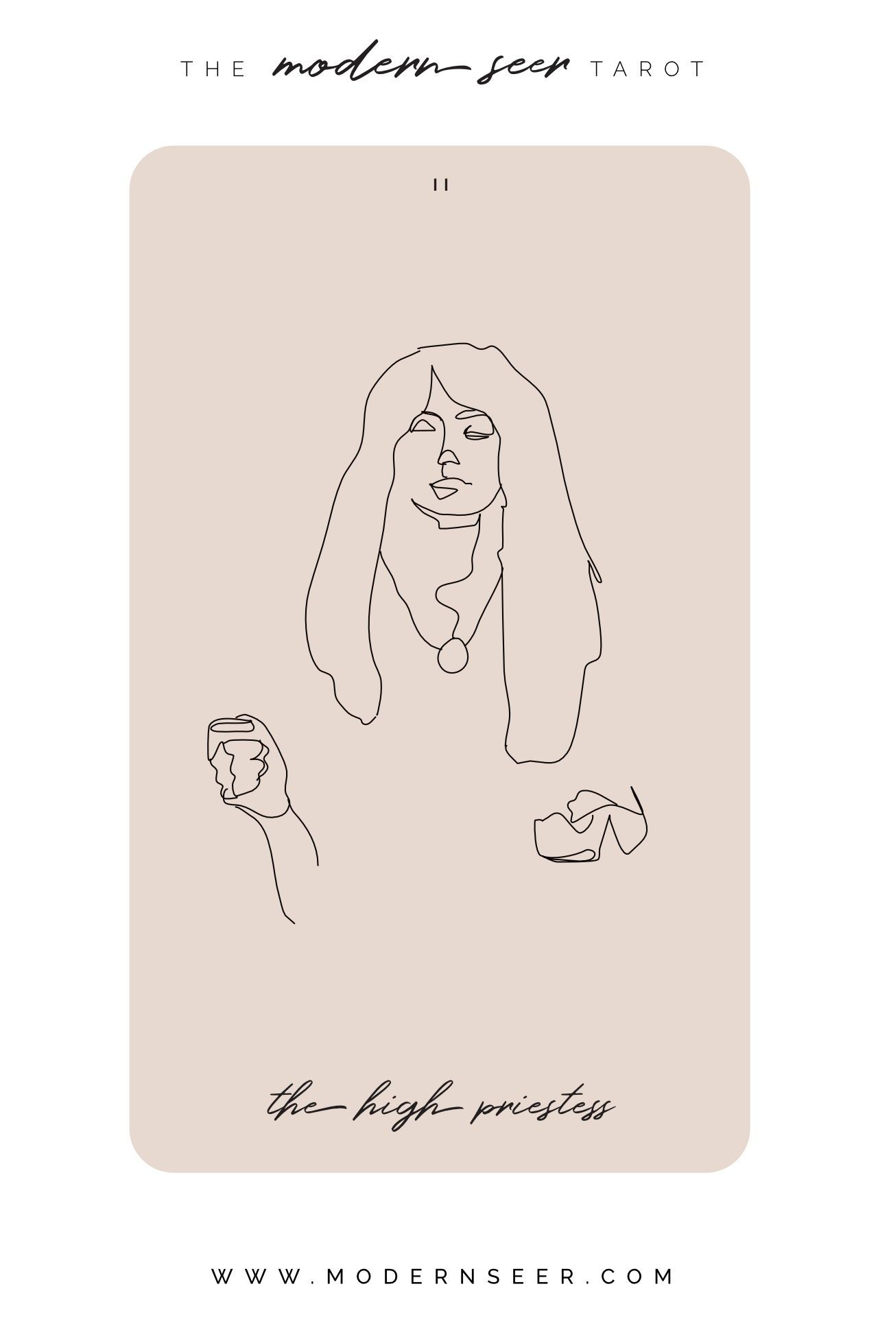 the high priestess from the dreamy hand drawn modern seer