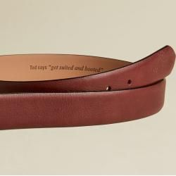 Photo of Leather belt with brogue details Ted Baker