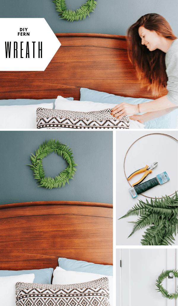 Photo of Inexpensive DIY fern wreath