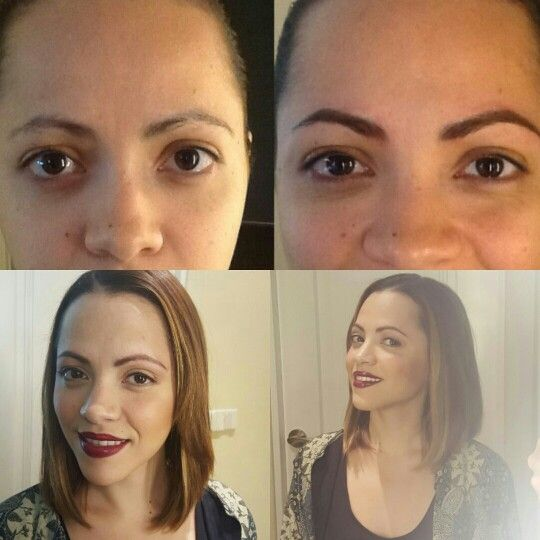 Hermoso cambio con microbrows