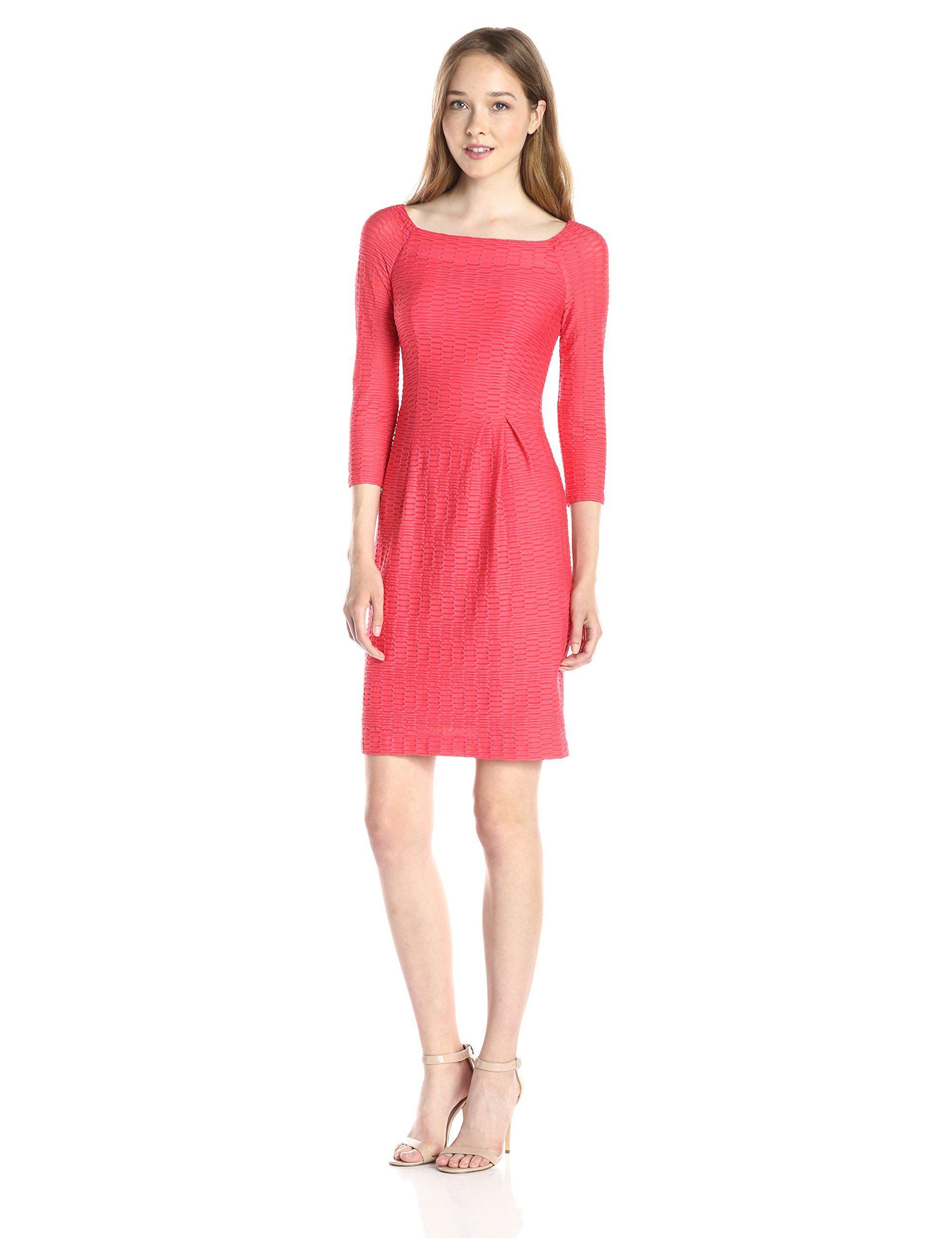 Nanette lepore womenus sleek and chic sleeve boat neck dress