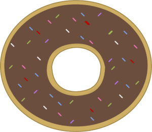 Chocolate Frosted Donut with Sprinkles | Play Food Crochet ...