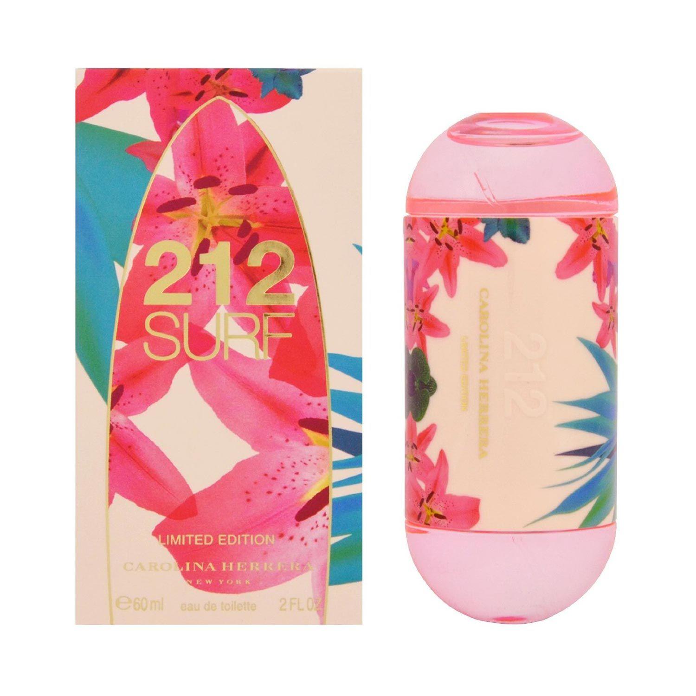 212 Surf for Her de Carolina Herrera es una fragancia de la familia olfativa Aromática para Mujeres. Esta fragrancia es nueva. 212 Surf for Her se lanzó en 2014. La Nota de Salida es notas marinas; la Nota de Corazón es notas amaderadas; la Nota de Fondo es almizcle.