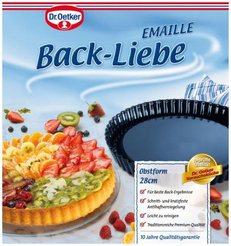 dr oetker back liebe emaille obstbodenform 28 cm backen backhelfer backen und helfer. Black Bedroom Furniture Sets. Home Design Ideas