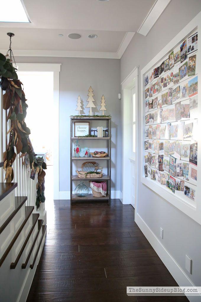 Christmas Card Display and a Snowflake Wall Christmas night, Card