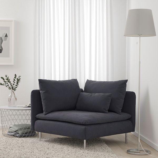 SÖDERHAMN Corner section, Samsta dark gray - IKEA   Living ...