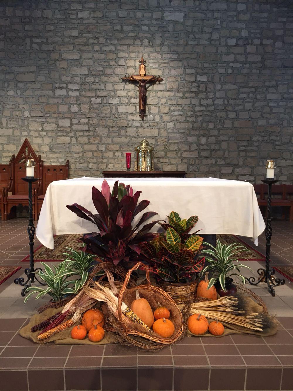Church Alter Flowers Thanksgiving