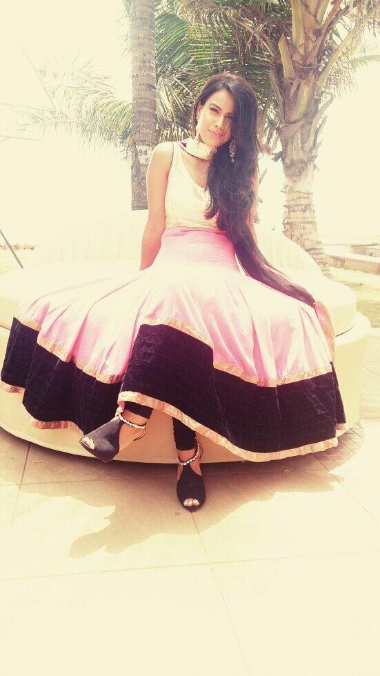 Nia sharma in white dress