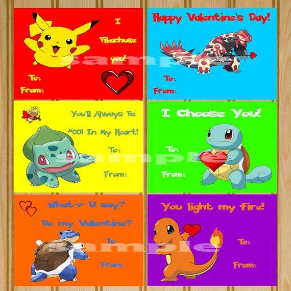 Pokemon Valentine Pokemon Valentine S Cards By Kidzbdayinvites