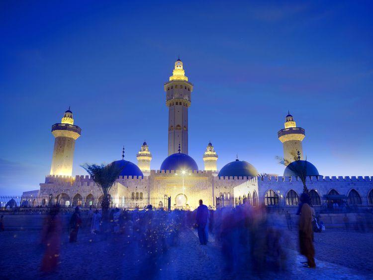 The Grand Mosque De Touba Senegal West Africa Mosque Beautiful