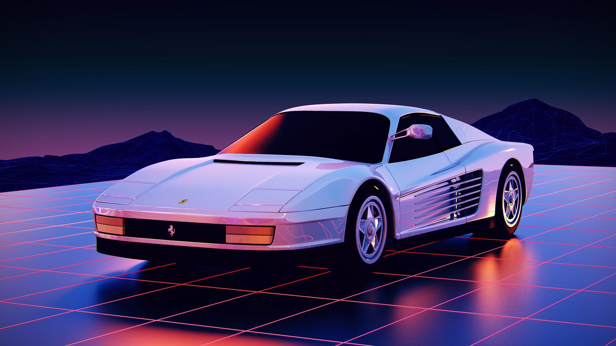 1986 Ferrari Testarossa In All Its Retro Glory Imgur Ferrari Testarossa Retro Cars Ferrari