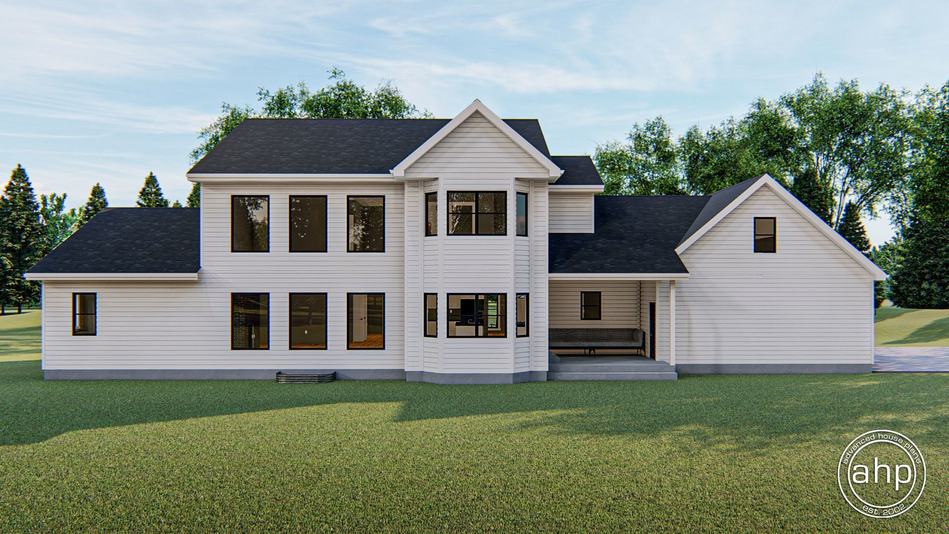Strattfield 1.5 Story Modern Farmhouse House Plan (With