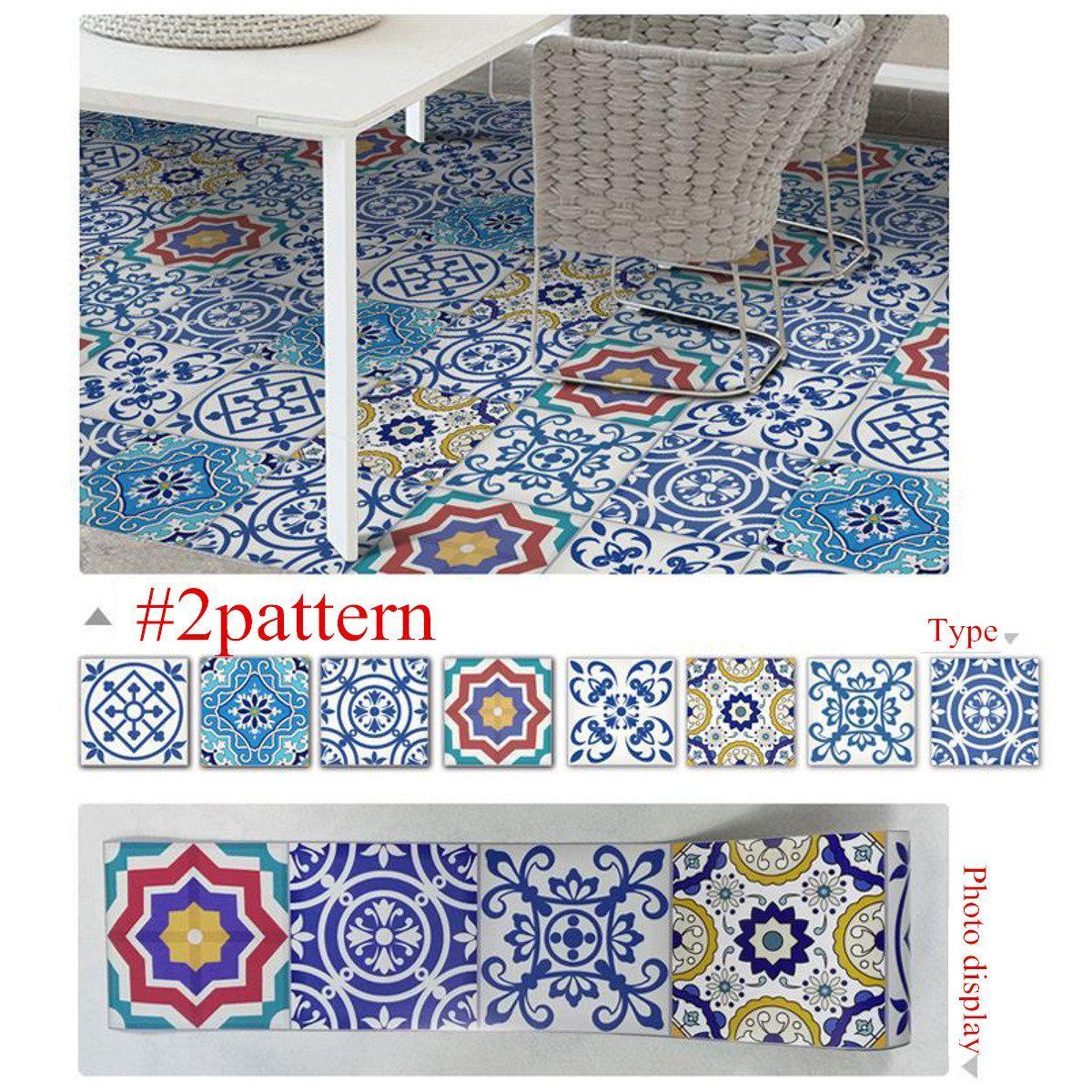 25pcs Self Adhesive Bohemia Simulation Ceramic Tiles Diy Kitchen Bathroom Wall Decal Stickers Decor Diy Tile Bathroom Wall Decals Ceramic Tiles
