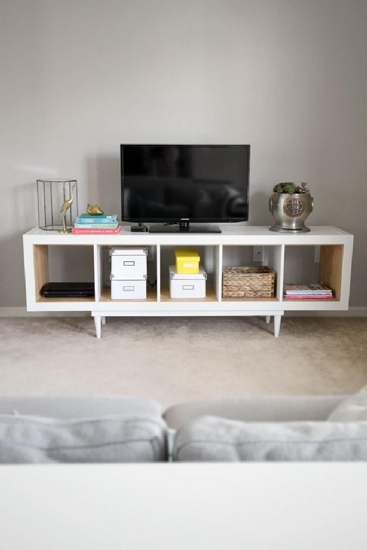 Diy Ikea Shelving Unit Into Tv Stand 60 Kallax Shelf Hacks Or Expedit Page 2 Of 11 Crafts