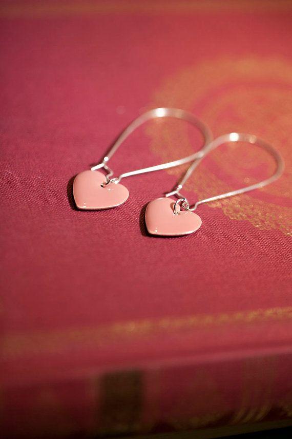 Rose pink earrings