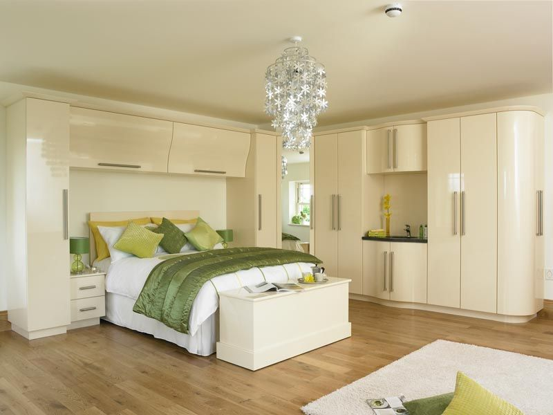 Awesome Duleek Gloss Cream Fitted Bedroom Furniture