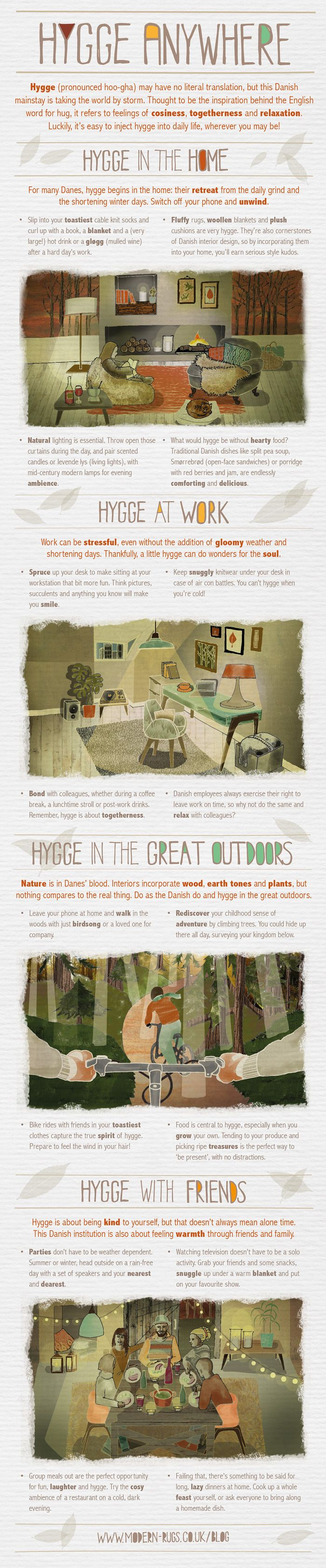 How to Hygge #Infographic