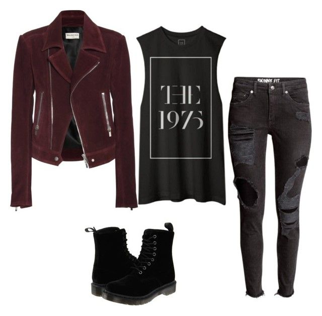"""""""Biker Chic"""" by beauty-within101 on Polyvore featuring Balenciaga, Dr. Martens, women's clothing, women, female, woman, misses and juniors"""