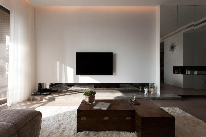 Contemporary Apartment In Taiwan By Fertility Design Living Room