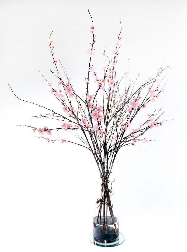 Pink Cherry Blossom With Sticks Flower