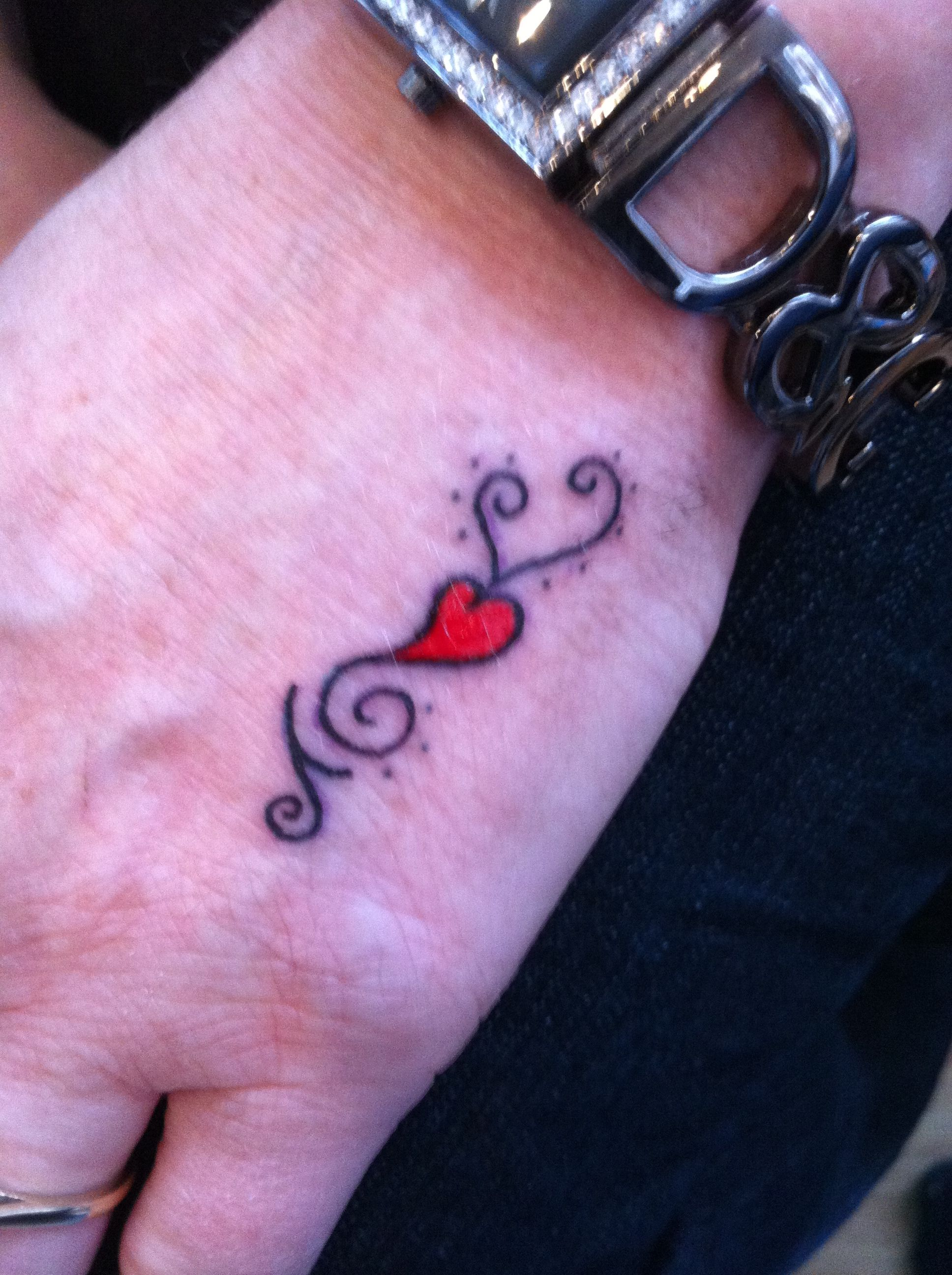 Great Combination tattoos design heart and star tattoo