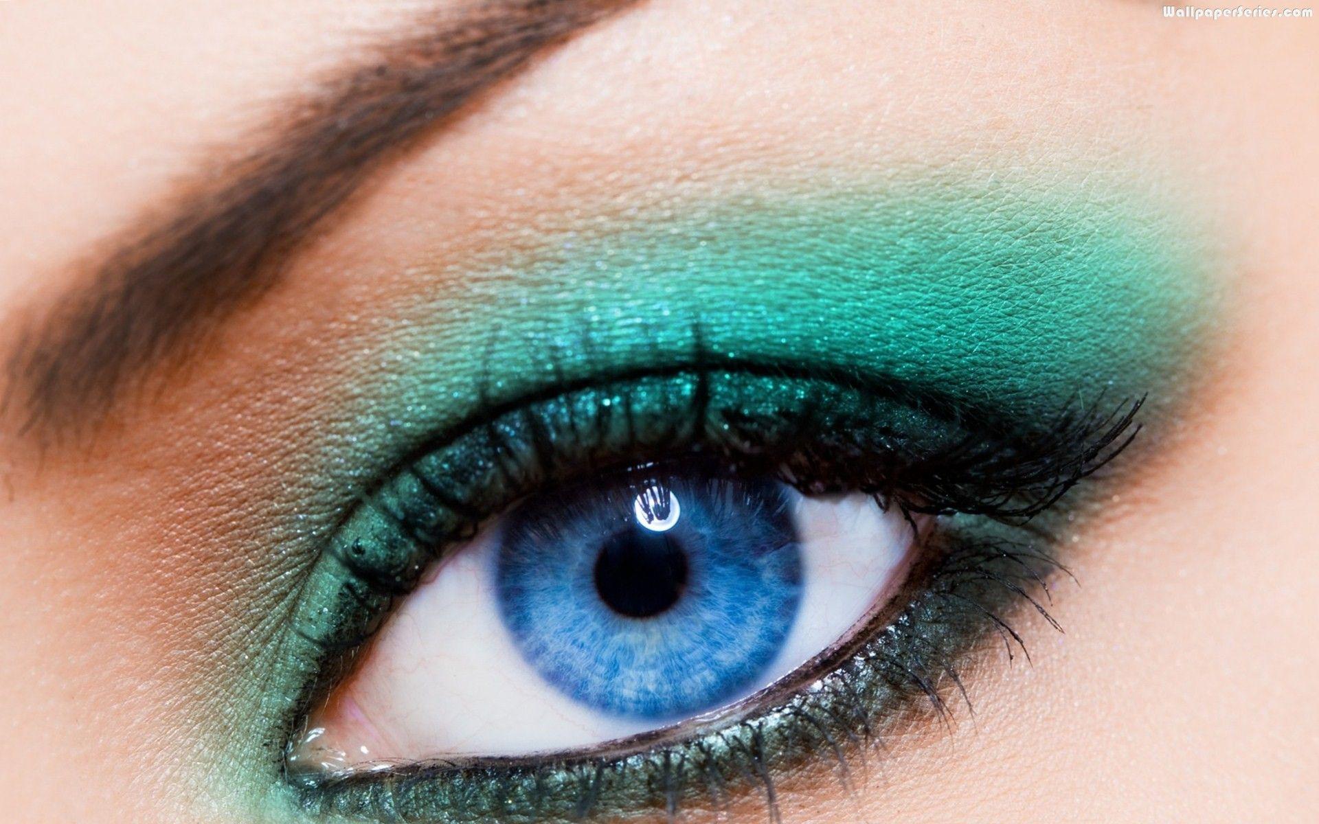 Blue Eyes Makeup Gree Eye Shadow Wallpaper Wallpaper Series