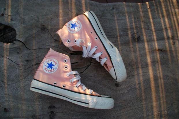 Vintage Converse All Star Chucks Peach