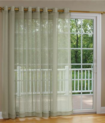 Sheer Patio Kitchen Sliding Door Curtain I Like This But Want A Little More Privacy Than Offers When It S Shut