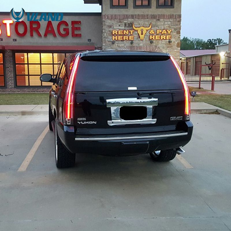The Item Is A Real Light Of Vland Gmc Yukon Tail Lamp The Color Is Smoked Vland Carlamp Ledtailligh Ledtaillamp G 2014 Chevy Tahoe Gmc Yukon Chevy Tahoe