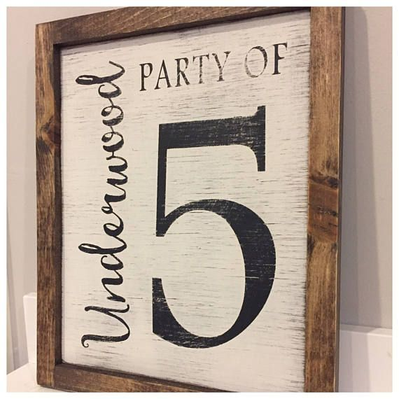 Wall Decor Signs For Home Pleasing Family Number Sign Party Of With Family Name Gallery Wall Design Ideas