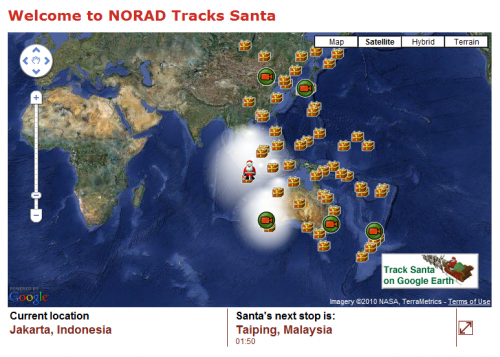 The 2010 Santa Tracker Review, From NORAD To Google Earth