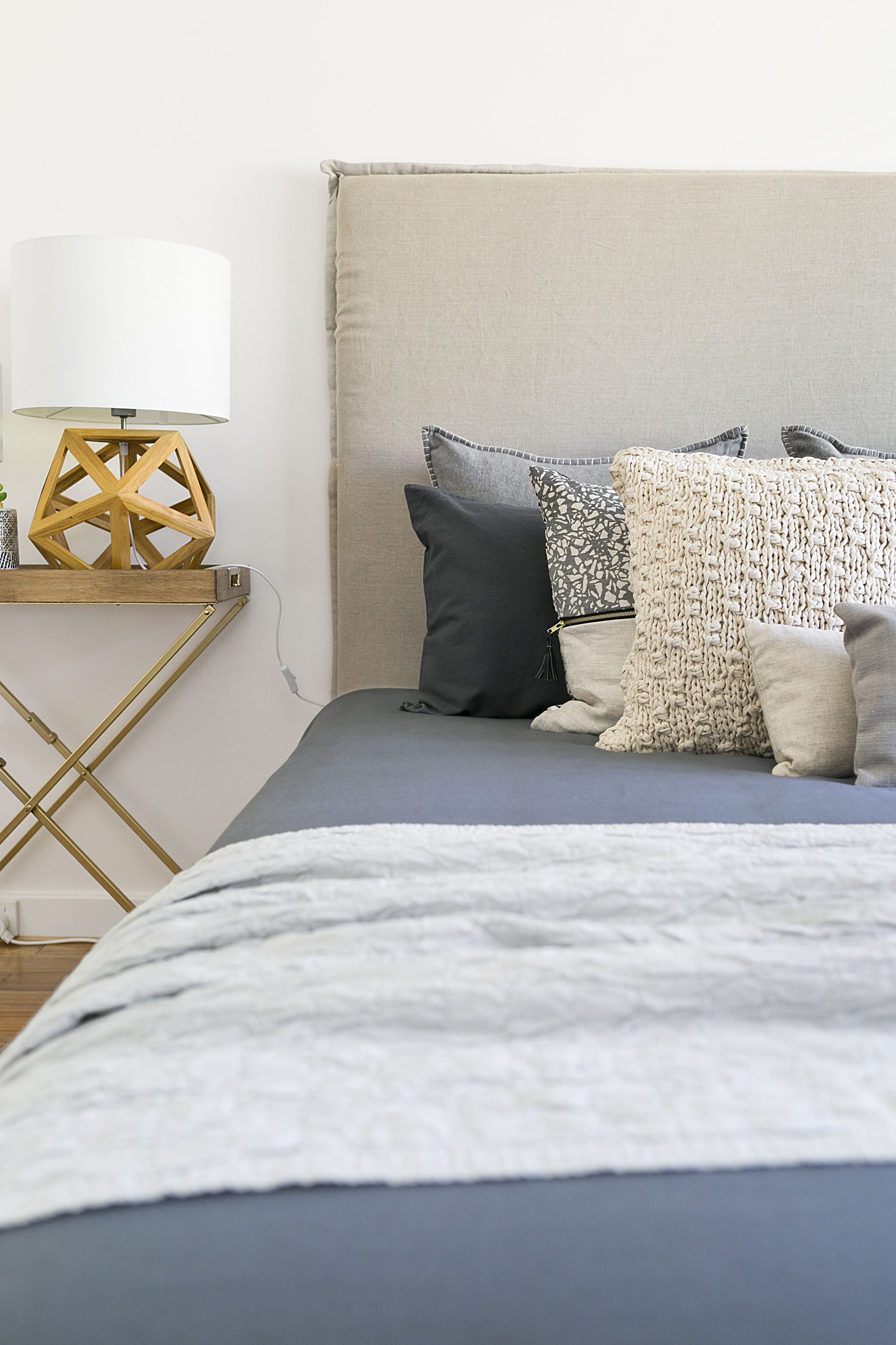 master bedroom idea. master bedroom idea, bedhead, layered linen timber accents idea s
