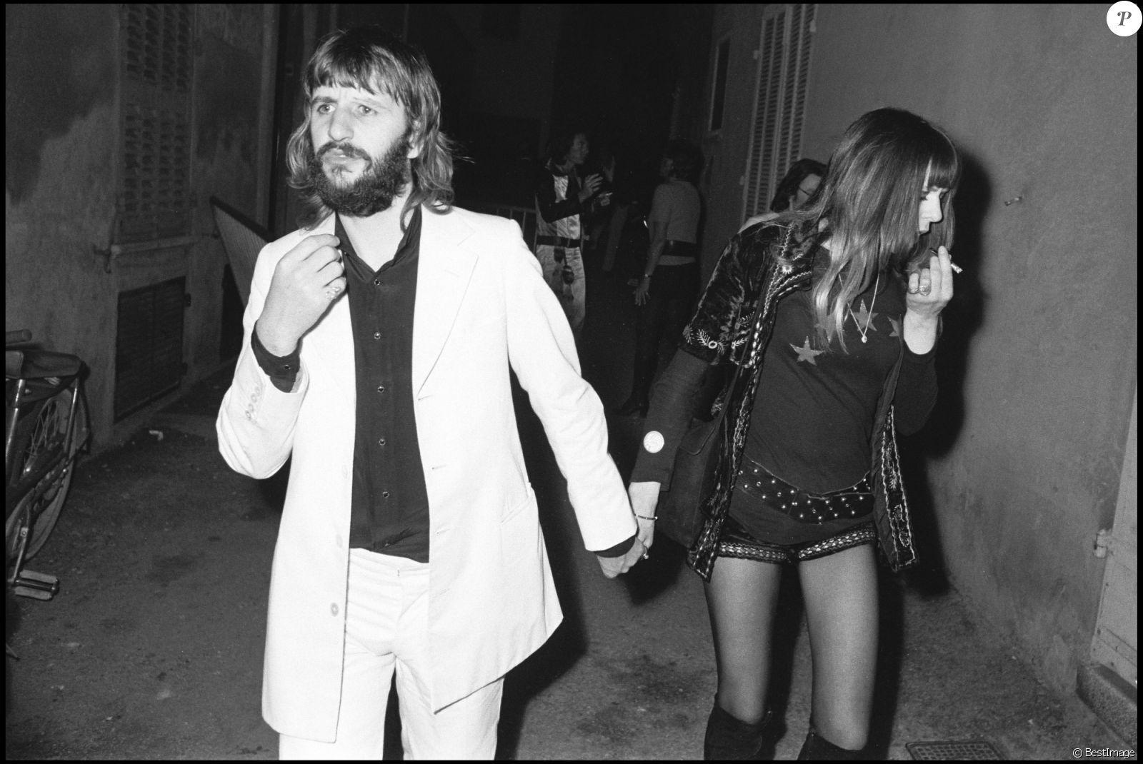 Ringo Starr Et Sa Premiere Femme Maureen Nee Cox Lors Du Mariage De Mick Jagger Bianca A Saint Tropez En Mai 1971