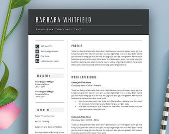 Creative Resume Template Modern Design Mac By Theshinedesignstudio