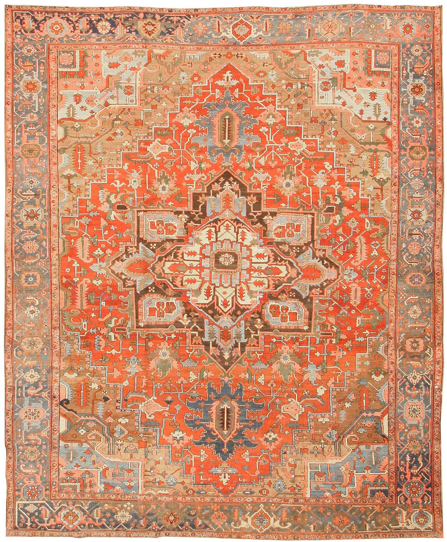 gorgeous! antique heriz persian rugs 43346 detail/large view - by