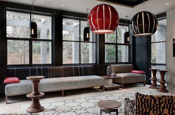 große pendelleuchten im esszimmer – moderne hängelampen, Wohnzimmer