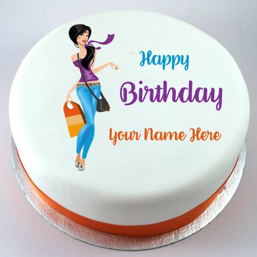 Happy Birthday Cake For Girlfriend With Your Name Name Birthday