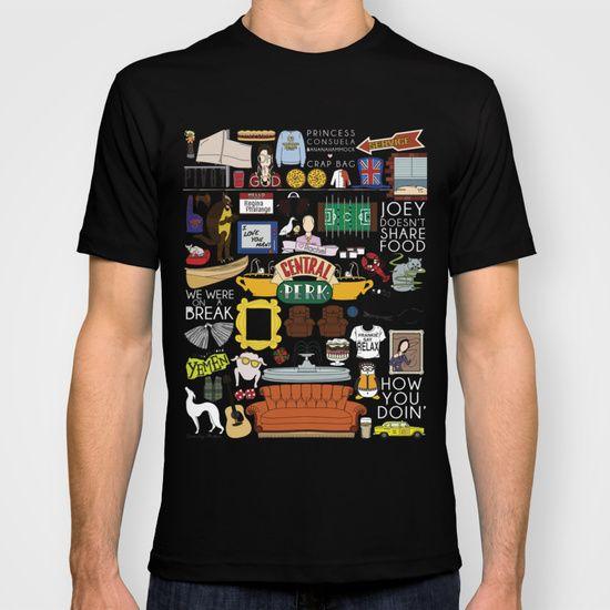 203c1e0d6342 F.R.I.E.N.D.S collage t-shirt | F.r.i.e.n.d.s. | Friends tv show ...