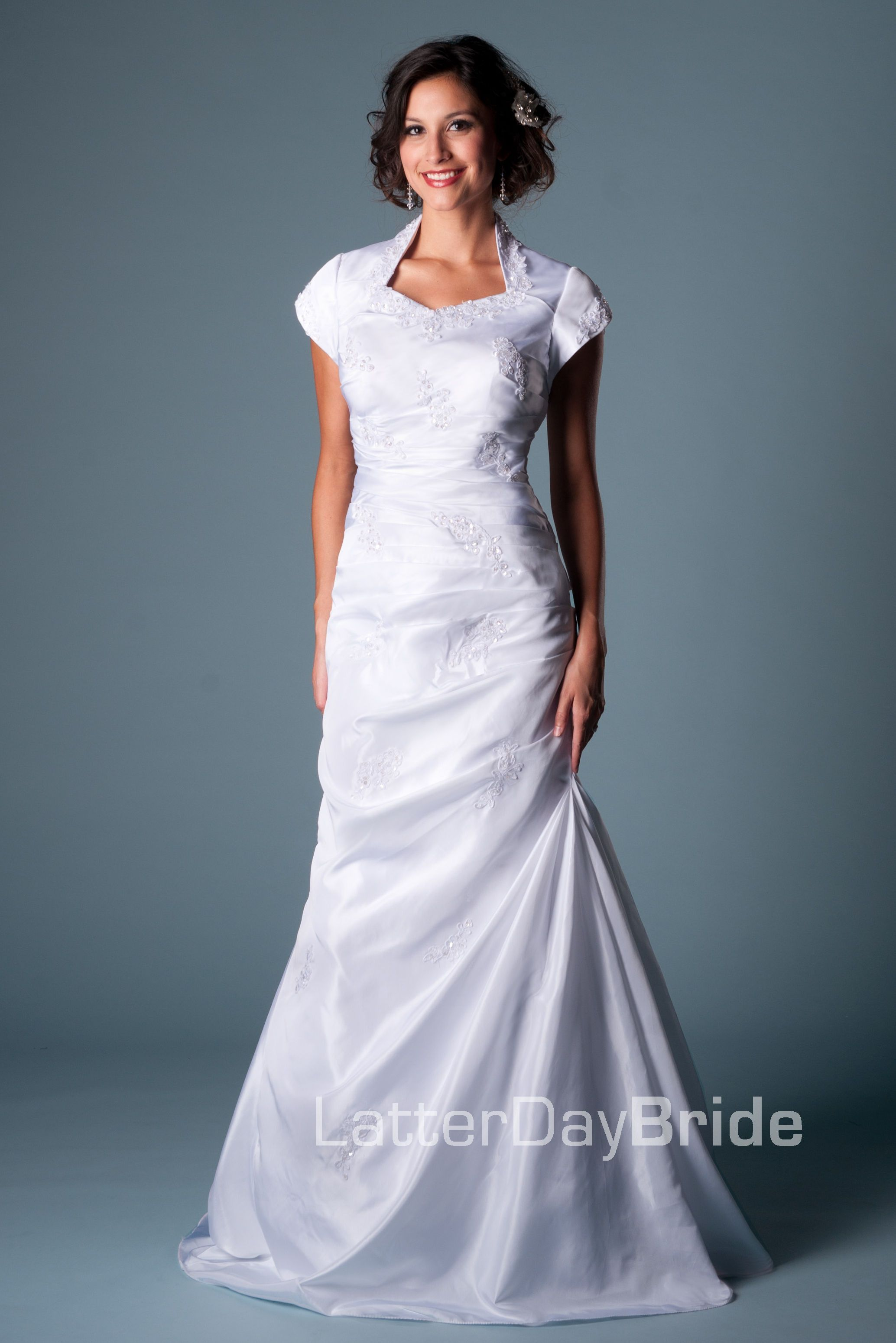 Modest Wedding Dress, Clarion | LatterDayBride & Prom | There will ...