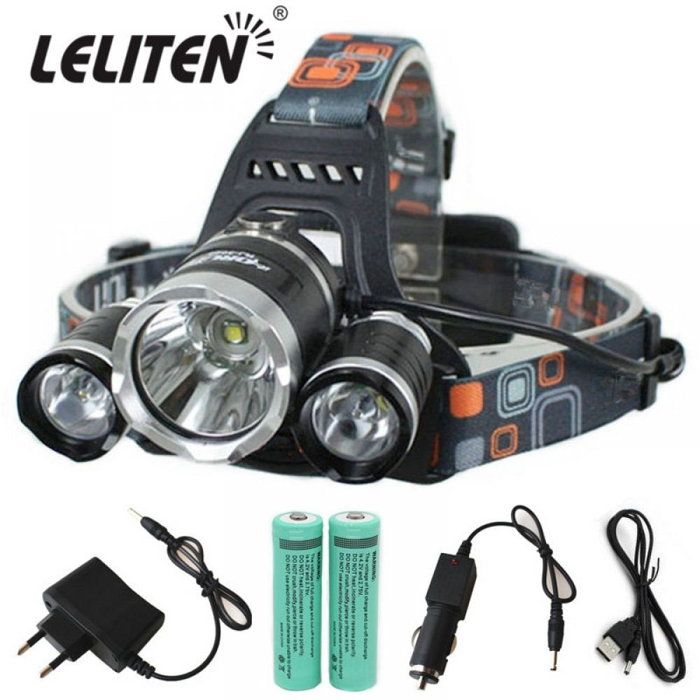 Convenient Rechargeable Powerful Head Flashlight 15000 Lumens Head Flashlight Flashlight Fish Camp